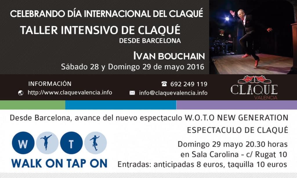 Claqué Valencia celebra Día Internacional de Claqué con talleres de Ivan Bouchain y espectaculo de WOTO