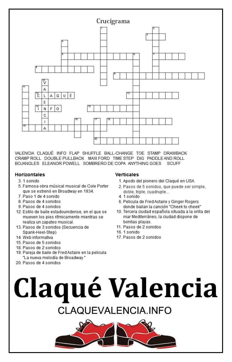 Claqué Valencia Quiz & Juegos (Sopa de Letras y Crucigrama)