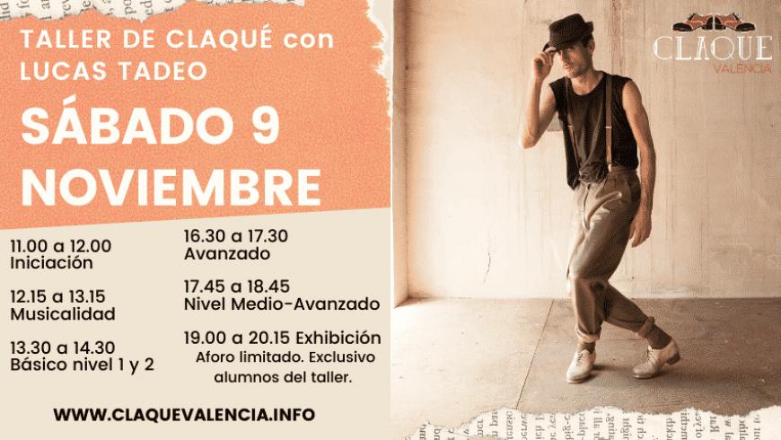 Taller de Claqué en Valencia con Lucas Tadeo