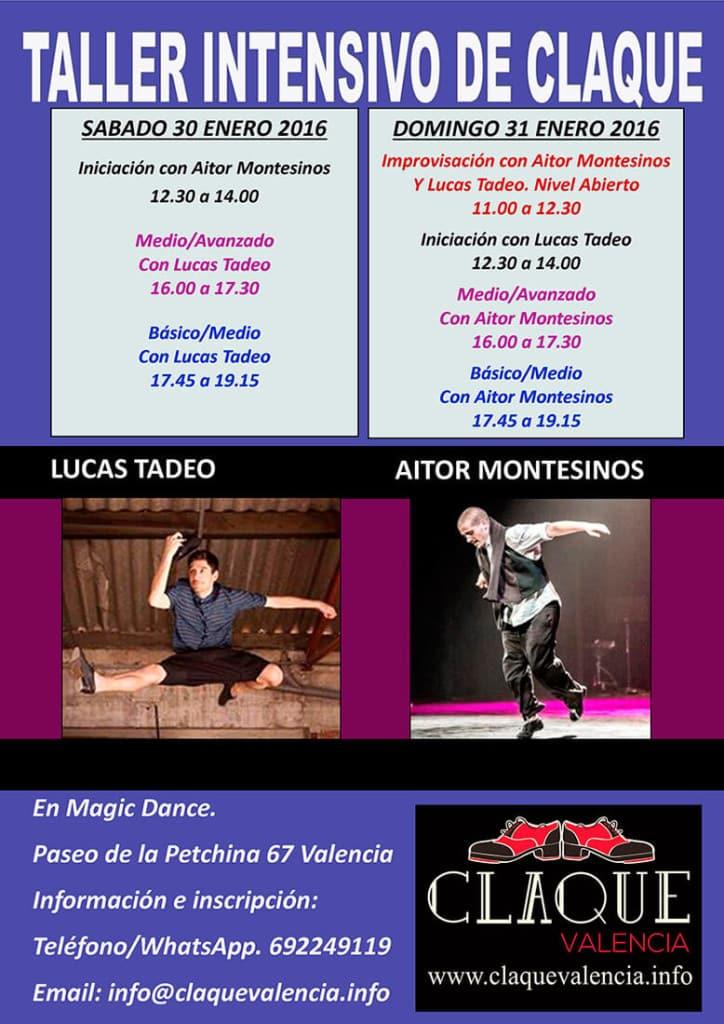 Taller Intensivo de Claqué con Lucas Tadeo y Aitor Montesinos 30-31 Enero 2016