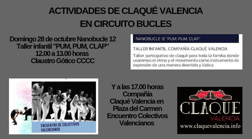 Actividades Claqué Valencia 28 de octubre