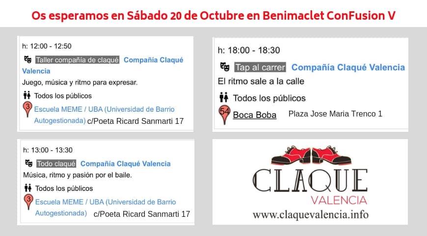 ¡Baila con Claqué Valencia en Benimaclet conFusión!