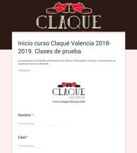 claque-valencia-formulario-clases-prueba-septiembre-2018