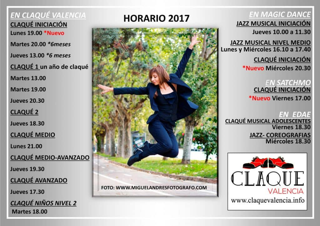 Horarios-Febrero-2017-Claqué-Valencia