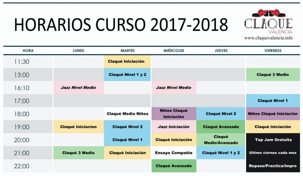 claque-valencia-horarios-curso-2017-2018