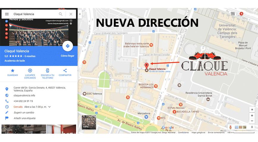 Claqué Valencia Nueva Dirección