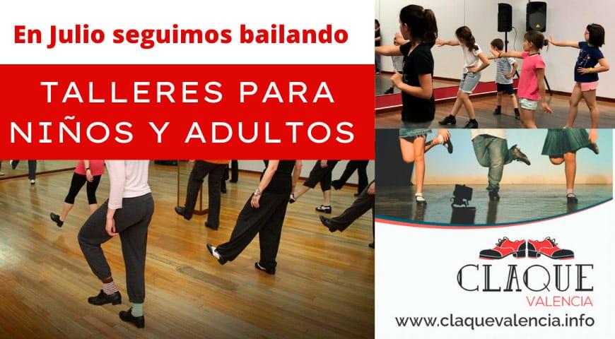 Talleres y clases de baile para niños y adultos en julio 2021