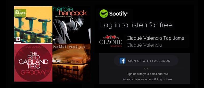 Canal Spotify de Claqué Valencia