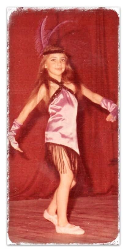 Fernanda Torresi en sus comienzos en el baile claqué
