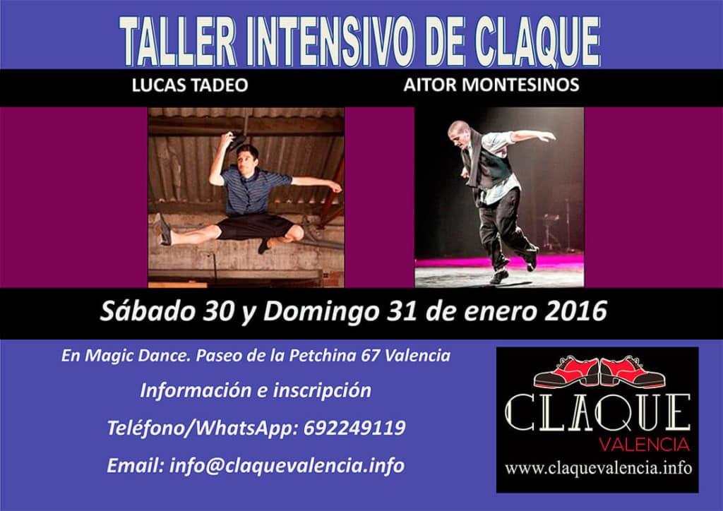 Taller Intensivo de Claqué con Lucas Tadeo y Aitor Montesinos Enero 2016