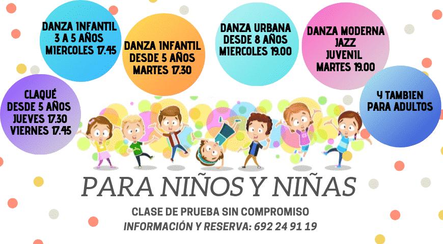 Nuevos cursos de baile para niños en Valencia