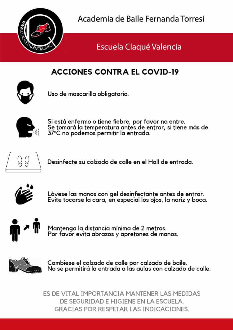 Protocolo seguridad clases de baile en Valencia