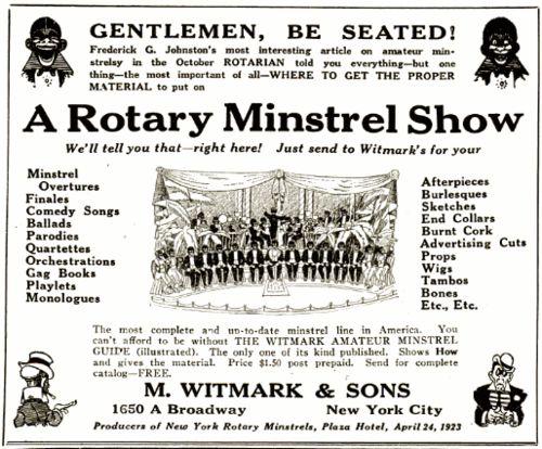 Historia del tap: The Minstrel Show