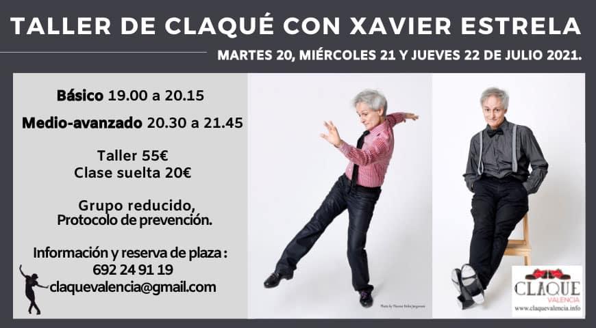 Talleres de verano con el bailarín de claqué Xavier Estrela