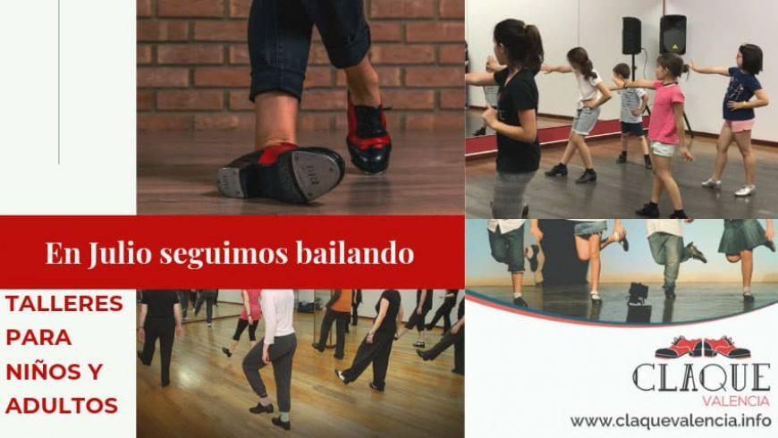 Talleres y clases de baile para niños y adultos en julio