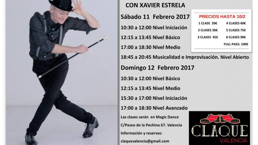 Talleres de Claqué en Valencia con Xavier Estrela